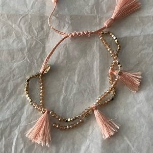 C+I Jolie tassel adjustable bracelet